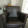 Teñir sillón piel marrón