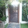 Puerta metalica jardin