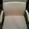 Tapizar parcialmente silla de oficina en polipiel blanca