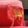 Esquina rota brazo izquierdo del sofa