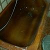 Esmaltar bañera de color marrón