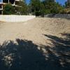 Muro en talud con bloques de hormigon con terrazas