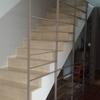 Cerrar escalera con cristal corredero
