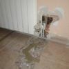 Arreglar hueco en pared y suelo