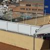 Separador de terrazas aluminio atico9m de largo por 60cm de alto