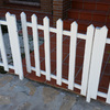 Puerta de valla listones aluminio blanca