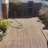 Lijado y barnizado de terraza madera tropical