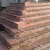 Colocación de escalera y terraza de gres de 33x33 de naba