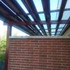 Cerramiento acristalado terraza con cortina cristal