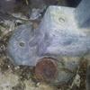 Pies de apoyo barandilla oxidados