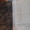 Cambiar moldura mármol blanco puerta de entrada piso por una más grande