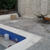 Limpiar corona piscina de resto de obra