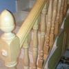 Lacado escalera interior de madera vivienda
