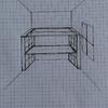 Conjunto de cama alta con escritorio y estanterías debajo