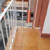 Soldadura de 5cm en barandilla de balcón