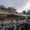 Limpieza toldos y laterales carpa terraza bar
