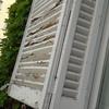 6 porticones pvc para 3 ventanas exteriores