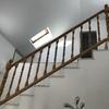 Reforma de escalera en madera , pintado y añadir tramo