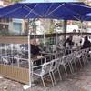 Cortavientos desmontable terraza cafeteria