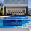 Piscina ático acero inoxidable + transparente
