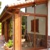 Cerramiento pvc imitación madera en terraza de unos 20 m2