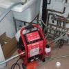 Limpieza suelo radiante a presión con máquina rothenberger