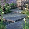 Quiero poner el jardín con suelo rústico de pizarra