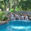 Decoración de roca natural para piscina