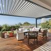 Toldo o pergola para jardin casa moderna
