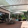 Pérgola bioclimática en terraza