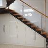 Cambio de barandilla cristal, madera y aluminio