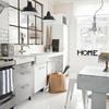 Ventana de cristal fijo separador entre cocina y salon