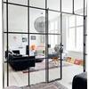 Cambio pared por cristal cuadricula hierro estilo industrial
