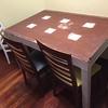 Lacar mesa de madera extensible de comedor