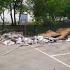 Limpieza de escombro en poligono industrial