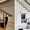 Escalera madera estantería