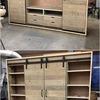 Estructura con cajones y cabecero armario y cómoda, todo con acabado rústico
