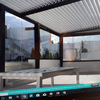 Cerramiento de parte de la terraza de un ático