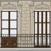 Substitución de 6 balconeras y persianas de librillo de madera