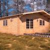 Suelo hormigón casa de madera