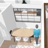 Ventanal salón - cocina