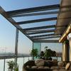 Cerramiento fijo de terraza con cristales transparente