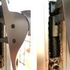 Reparar cierre en puerta de cristal con marco de aluminio