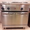 Embalaje y transporte de cocina industrial con horno