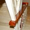 Modificar baranda de hierro y madera de escalera