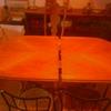 2 cristales blancos para mesa de madera de comedor