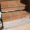 Reconstrucción dos peldaños y base de escalera exterior