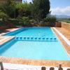 Toldo de lona para piscina comunitaria