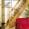 Instalar escalera recta de madera