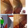 Tabique Pladur sobre Escalera y Puerta Plegable